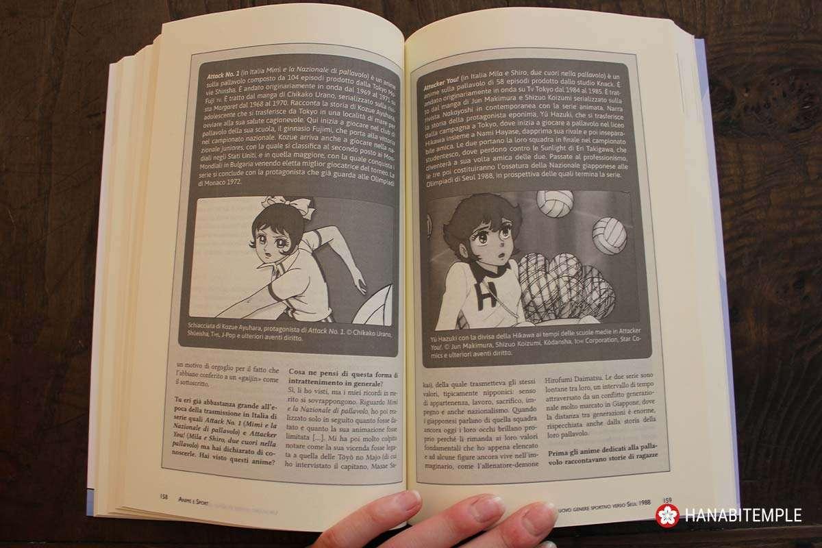 Pagine del saggio Anime e Sport dedicate alla pallavolo